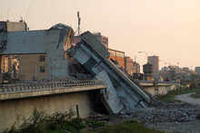Morandi Collapsed Bridge In Ge...