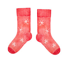 Cute Knitted Red Colored Socks...