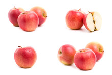 A Set Of Red And Yellow Apples