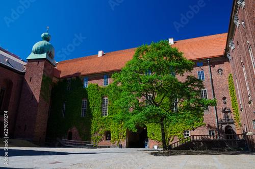 Photo  Courtyard in Stockholm City Hall Stadshuset, Sweden