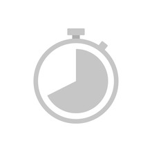 Flat Icon Stopwatch Isolated On White Background. Vector Illustration.