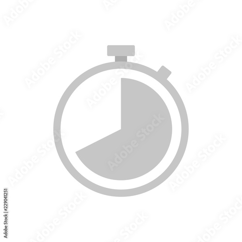 Obraz Flat icon stopwatch isolated on white background. Vector illustration. - fototapety do salonu