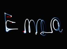 Name Emma Written In Light