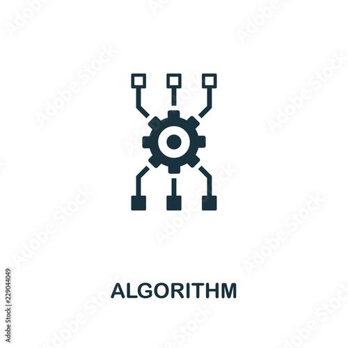 Algorithm icon Wallpaper Mural