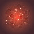Vector illustration of Stars and sparkles on a red background