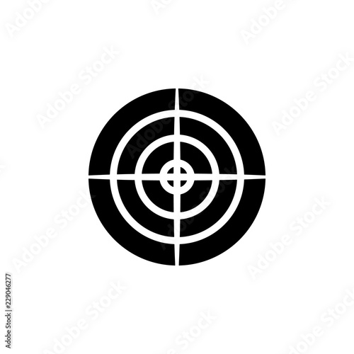 weapon, aim icon  Element of military illustration  Signs and