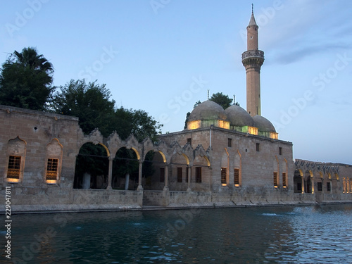 Foto  Halil-ur Rahman Mosque and Holy lake Sanliurfa, Turkey