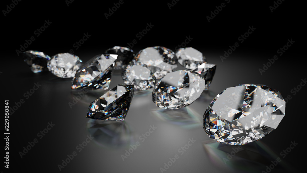 Fototapeta Sparkling Diamonds