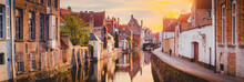 Historic City Of Brugge At Sun...