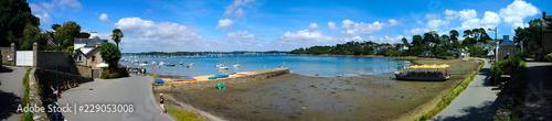 Fotografía  Prise de vue panoramique du port de l'île aux moines, en Bretagne, côte d'Armor,