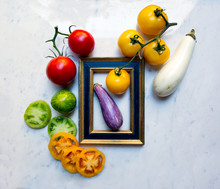 Various Organic Vegetables Wit...