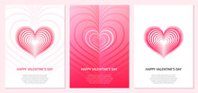 Creative Design Concept With Heart For Valentine's Day, Mother's Day, Greeting Cards Or Love Confession.