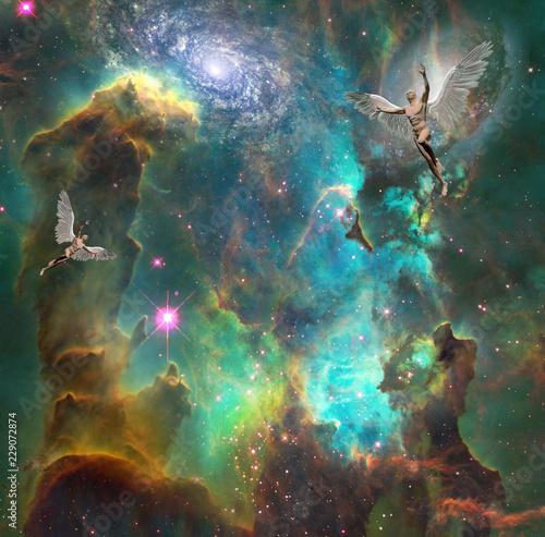 Foto  Angels in space
