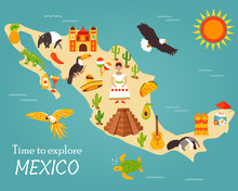 Map Of Mexico With Destination...