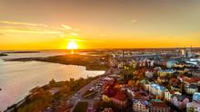 Aerial Sunset View Of Beautifu...