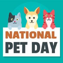 National Pet Day Concept Backg...