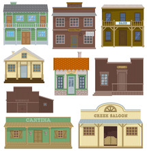 Saloon Vector Wild West Housing Building And Western Cowboys House Or Bar In Street Illustration Wildly Set Of Country Landscape With Architecture Hotel Store In Town Isolated On White Background