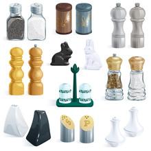 Salt Shaker Vector Design Pepp...