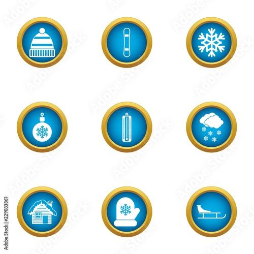 Fotografía  Spend the winter icons set