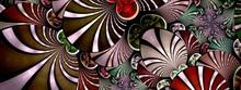 Symmetrical Fractal Flower Red, Digital Artwork For Creative Graphic