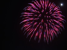 Pink And Purple Firework Burst...