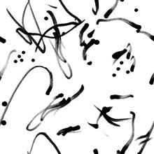 Marker Hand Drawn Abstract Sea...