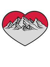 Form Berge Herz Liebe I Love H...