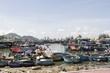 ベトナムのクイニョンにある港市場