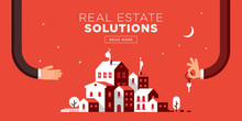 Real Estate Web Header Flat Design