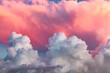 Leinwandbild Motiv clouds at sunset