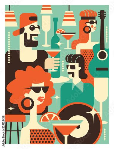 Poster Art abstrait Основные RGB