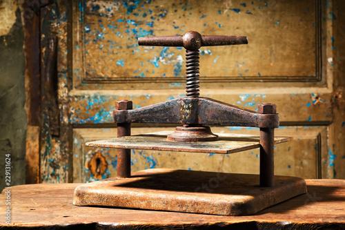 bookbinding hand sewn with metallic press