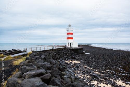 Fototapeta  The old lighthouse in Gardur, Iceland