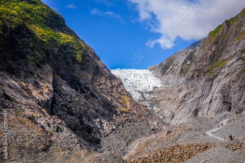 Spoed Foto op Canvas Oceanië Franz Josef glacier, New Zealand