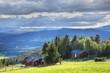 canvas print picture - Norwegen, Tron, Sender, Berg, Gipfel, Straße, Schotterstraße, Maut, Mautstraße, Islandmoos, Tronfjell, Alvdal, Fluss, Glåma, Hedmark, Tal, Østerdalen, Tynset, Vestfjell