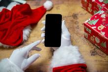 Santa Claus Showing Using Mobi...