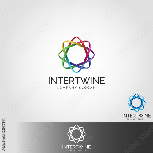 Fotografie, Obraz  Intertwine - Infinity Connection Logo
