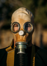 Man With Tear Gas Mask