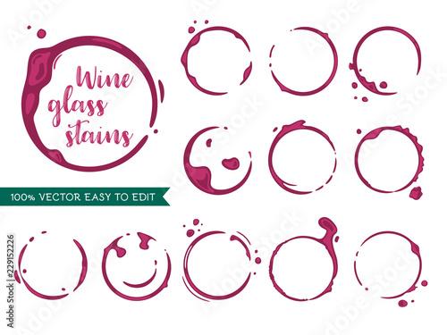 Fotografering  Wine stains