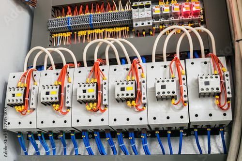 a modern open fuse box contains a lot of automata, connectors Electrical Wiring Box a modern open fuse box contains a lot of automata, connectors, relays, and