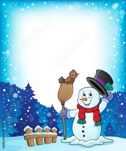 Winter snowman subject frame 1