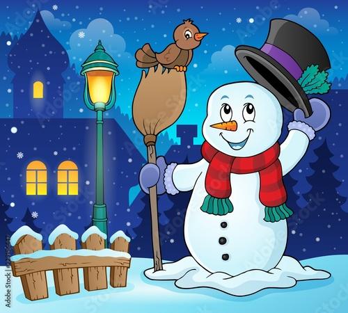 Winter snowman subject image 3