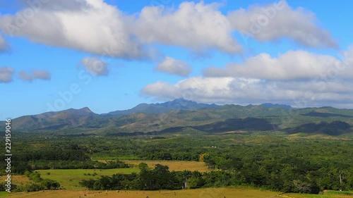 Valley of the Sugar Mills (Spanish: Valle de los Ingenios) close to Trinidad, Sa Fototapeta