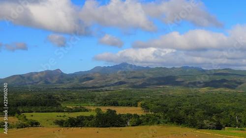 Valley of the Sugar Mills (Spanish: Valle de los Ingenios) close to Trinidad, Sa Slika na platnu