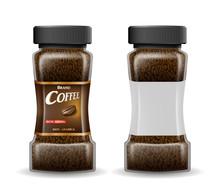 Instant Coffee Glass Jar With ...