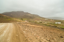 Empty Dirt Road In Cofete, Fue...