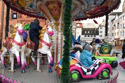 In de dag Amusementspark wesołe miasteczko