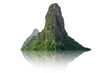 Leinwandbild Motiv Mountain isolated