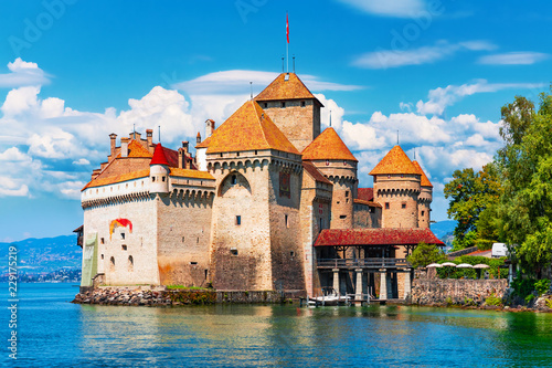 Vászonkép  Chillon Castle near Montreux, Switzerland
