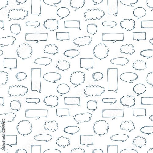 Speech bubbles pattern  Message frames  Doodles background  Scribble